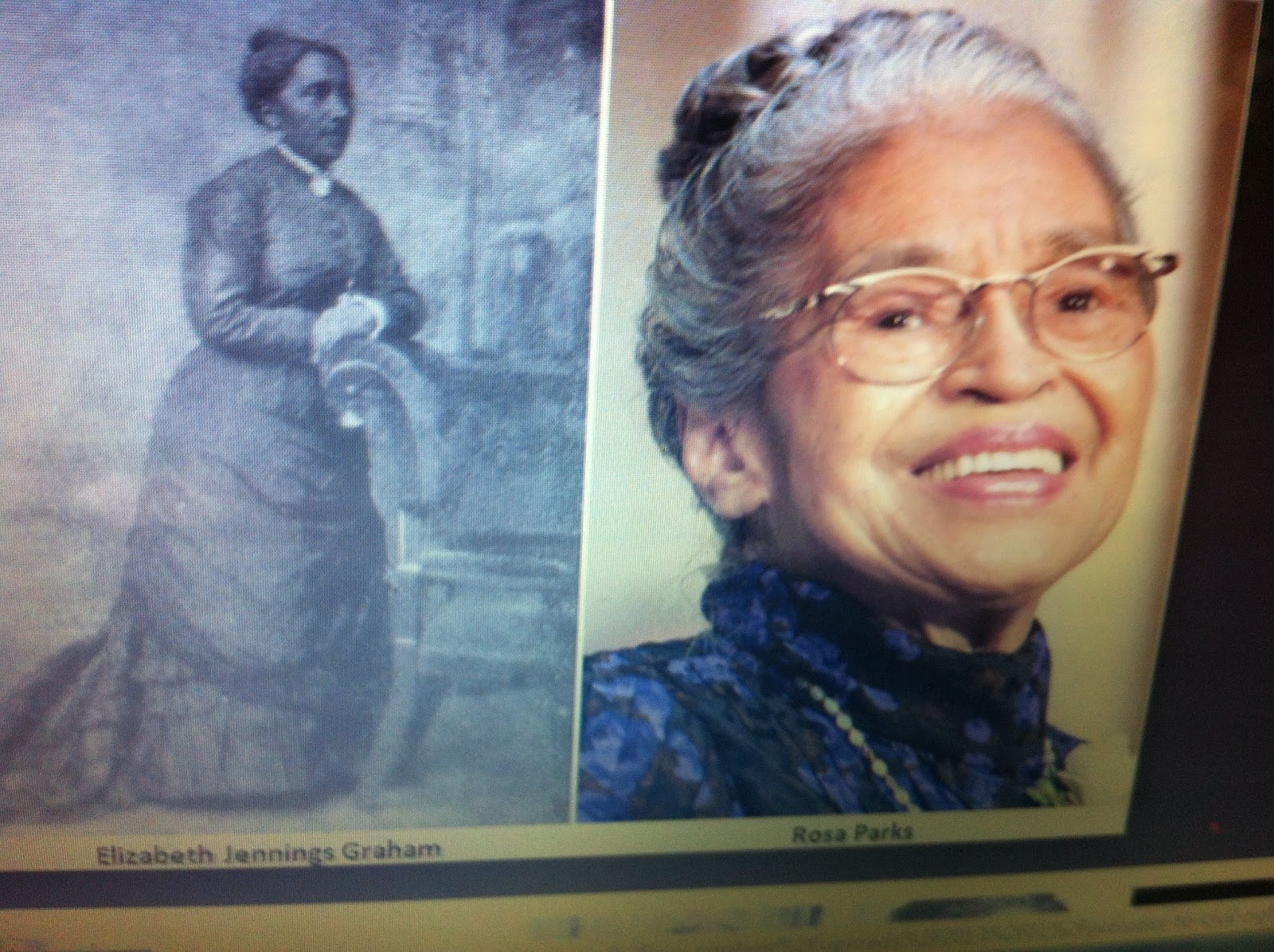 """elizabeth jennings graham Long before rosa parks made history for refusing to give up her seat in the """"colored"""" section of a public bus in 1955 in montgomery, elizabeth jennings graham performed a similar feat about."""