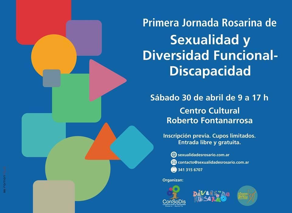 """""""Primera Jornada Rosarina de Sexualidad y diversidad funcional"""""""