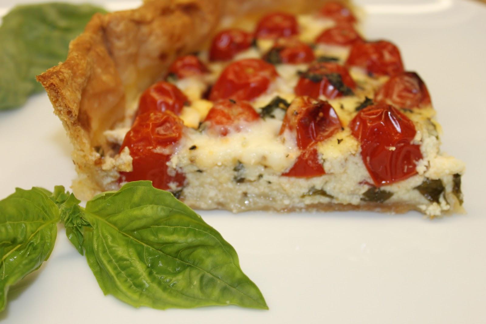 Petits repas entre amis tarte la tomate ricotta et for Lunch entre amis