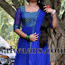 Shalin in Blue Salwar Kameez