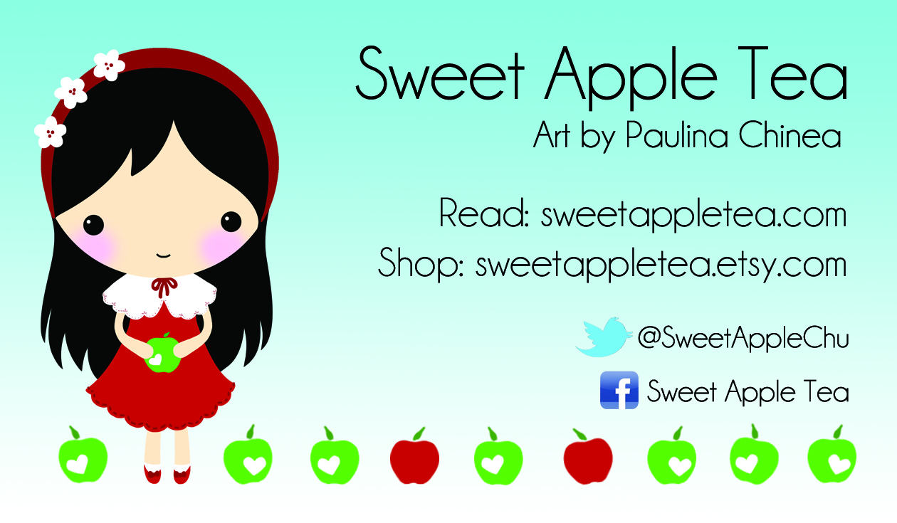 Sweet Apple Tea: New Design & Business Cards