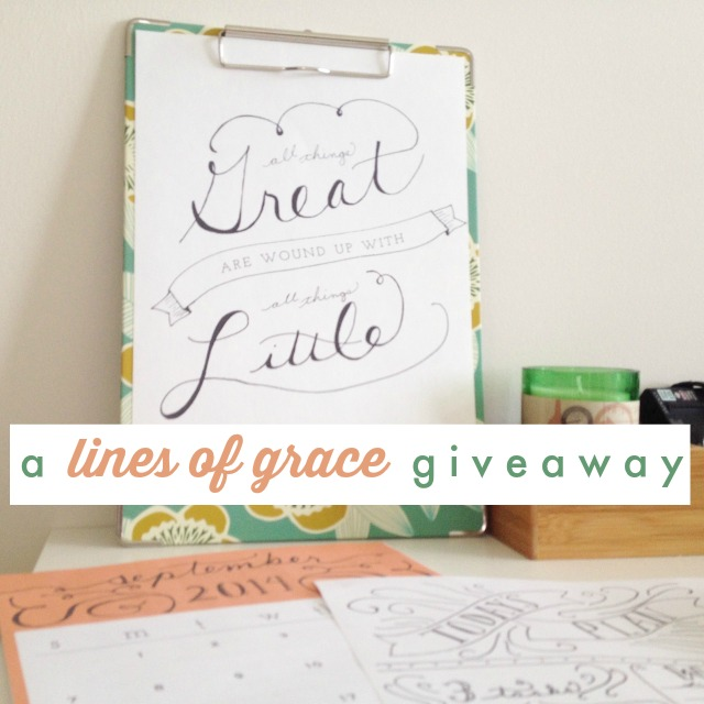a Lines of Grace giveaway