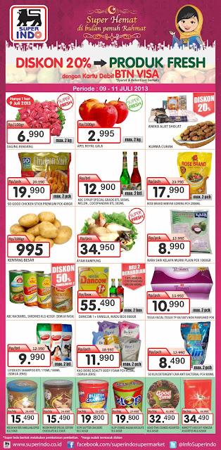 Katalog Promo Superindo dengan kartu BTN 20 % off