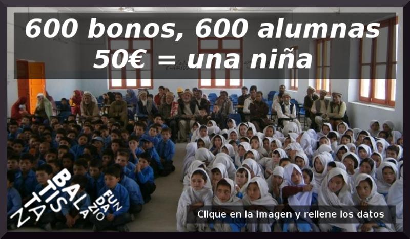 Fundación Baltistan. Campaña para escolarizar niñas 2018