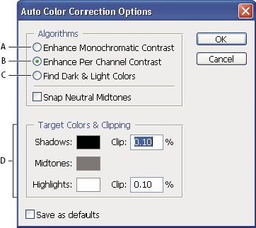 how to change colour setting photoshop