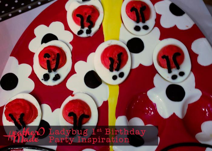 Ladybug 1st Birthday Party Inspiration. ladybug deviled eggs
