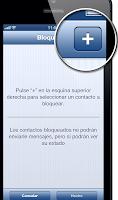 Agregar un contacto para bloquear en WhatsApp para iPhone.