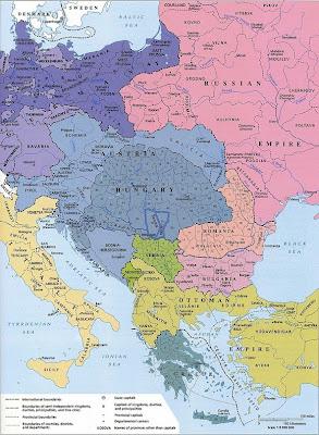 Carte d'Europe Centrale