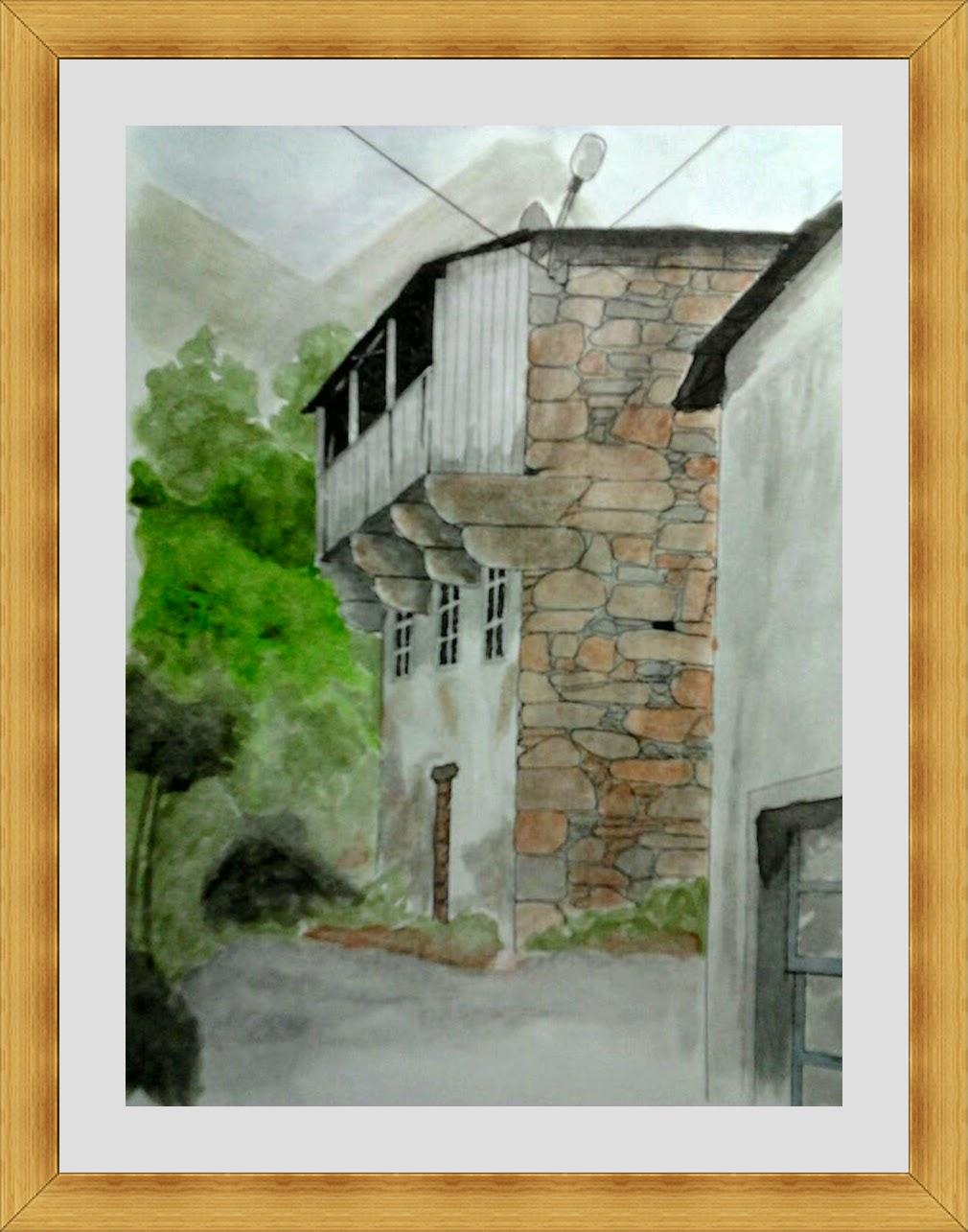 dibujo pintura plumilla acuarela tecnica mixta galeria arte casa rural mondoñedo