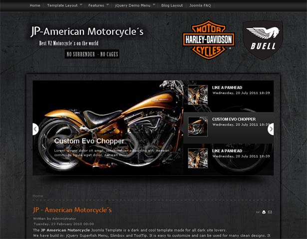 ... Motorcycle Template for Joomla 1.5 & 1.7 & 2.5 | Free All Template