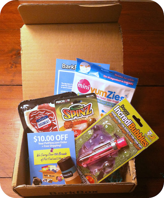 bark box barkbox dog subscription box review july 2012