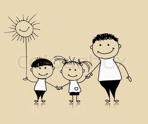 παιδιά και πατέρας
