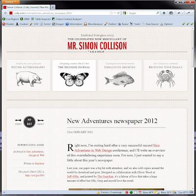 Screen shot of http://colly.com/journal/.