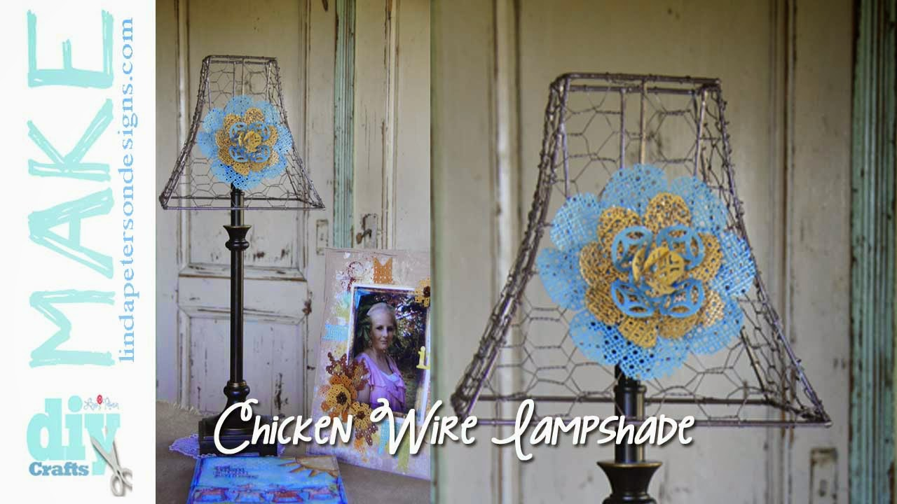 Let\'s decorate for fall! Make a chicken wire lampshade video + 50 ...