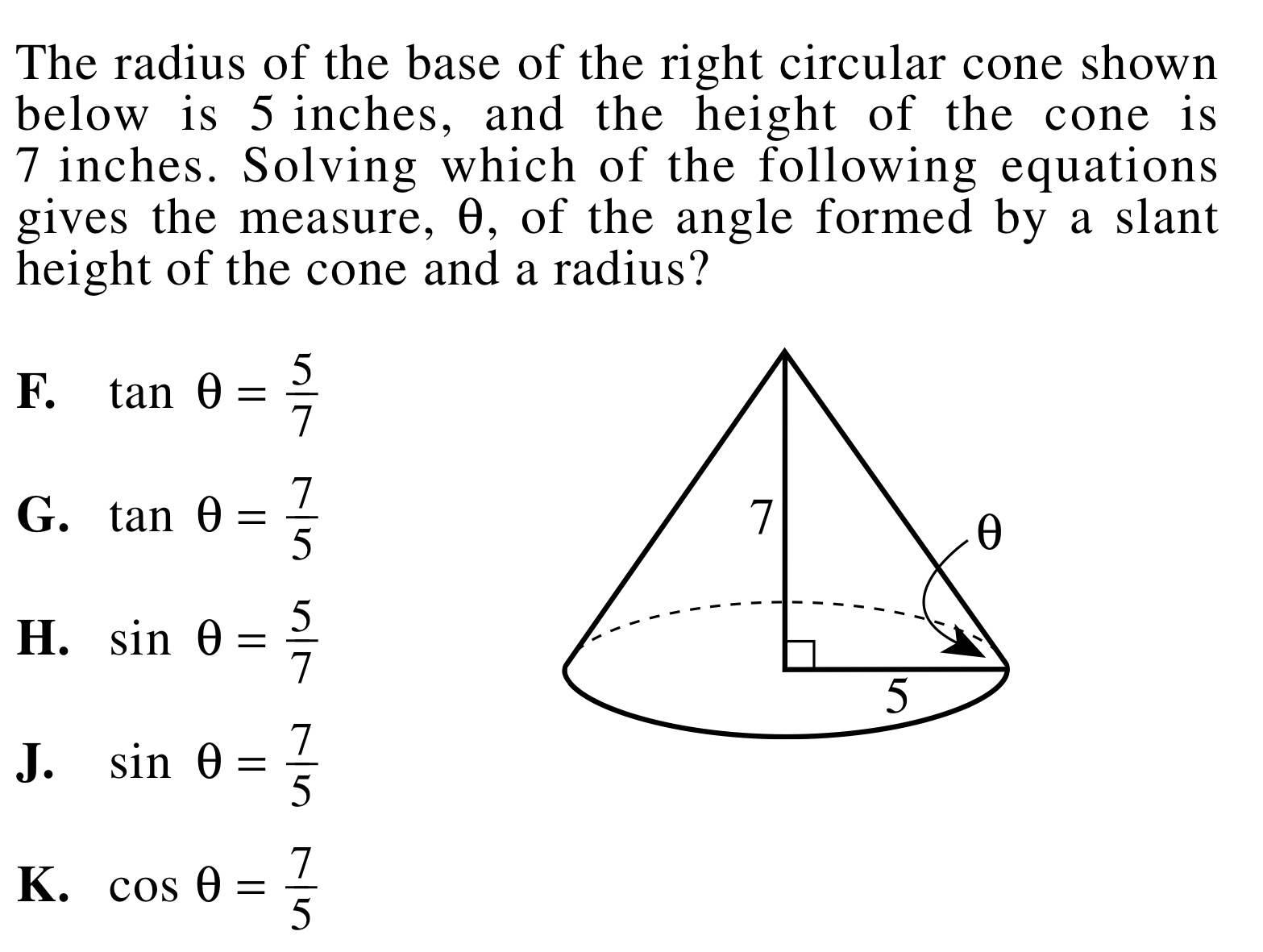 Park Slope Tutor: ACT Math Problem - Trig