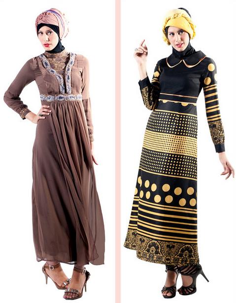 Gambar Baju Gamis Muslim Brokat Terbaru