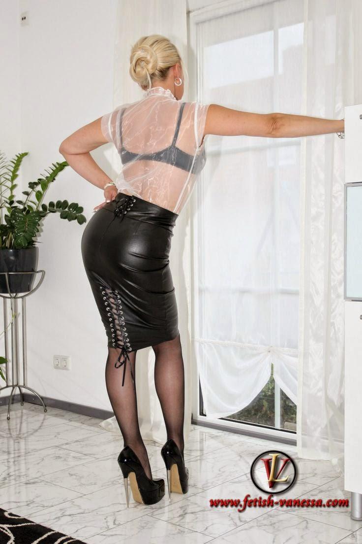 This Fetish leather skirt amusing