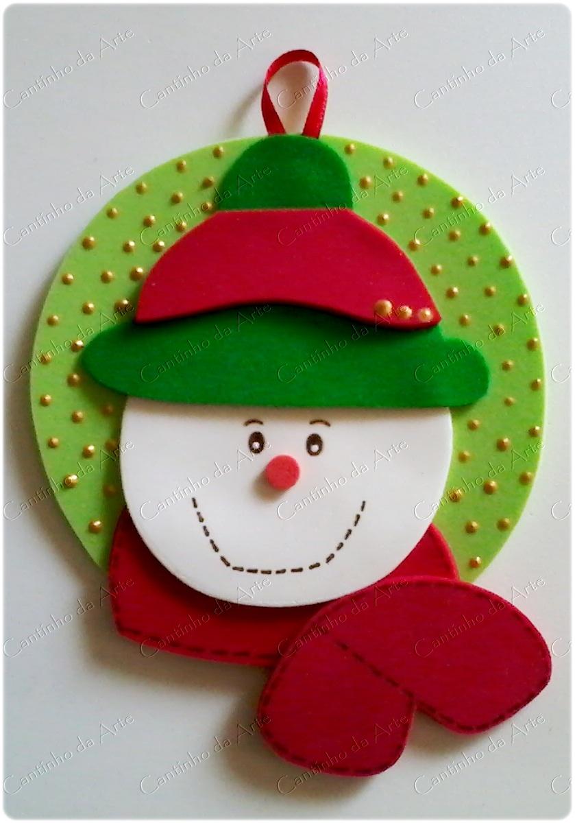 Enfeite De Eva ~ Enfeites natalinos paraárvore de Natal em EVA Artfesta