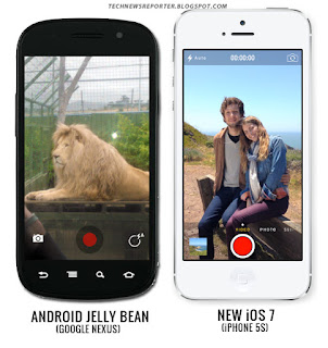 ios 7 vs android,ios 7 features,