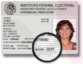 Credencial IFE Sección Electoral