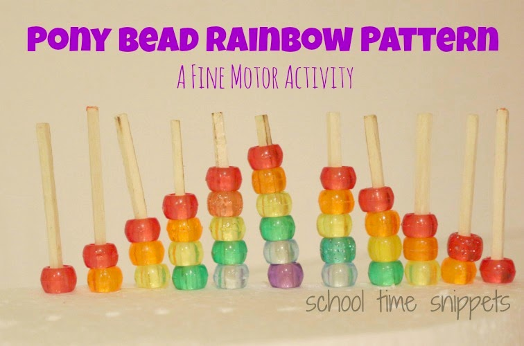 Pony Bead Rainbow Fine Motor Activity