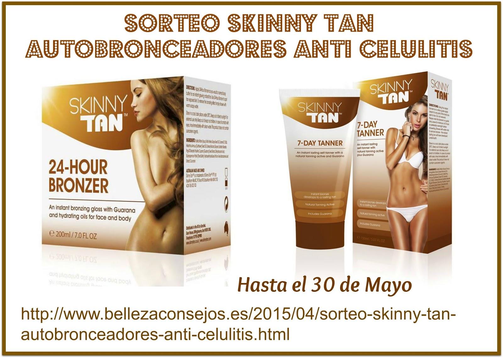 Sorteo Skinny Tan autobronceadores anti celulitis