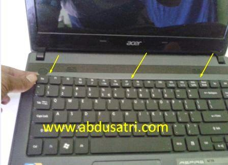 cara pasang keyboard laptop acer