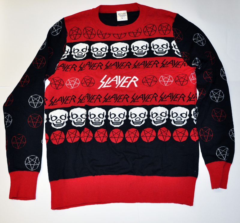 metallica will be releasing their very own christmas sweaters this holiday season yes you read that right slayer did in fact put out a christmas - Metallica Christmas Sweater