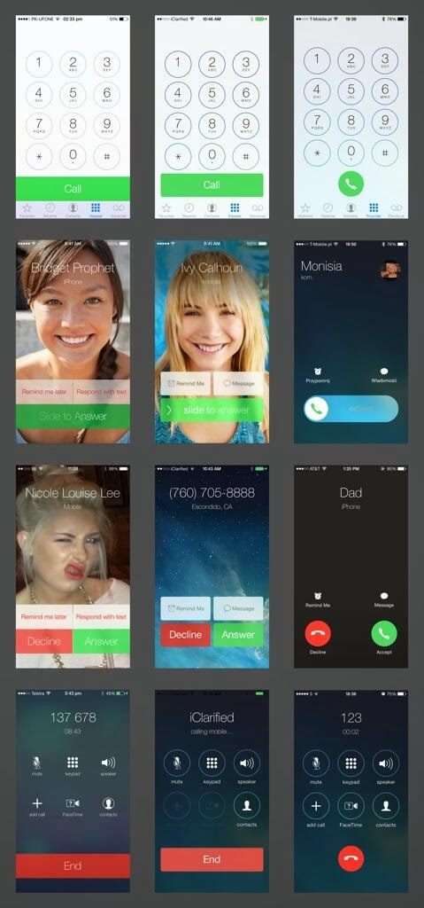 Evolution of iOS 7 images