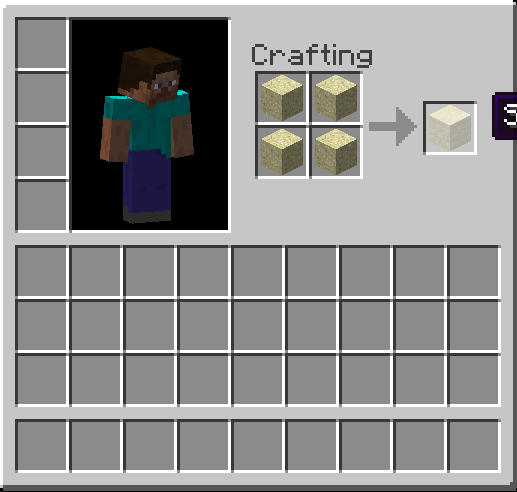 Crafting Tutoriais: Minecraft - Como criar stone e sandstone ( pedra e pedra de areia