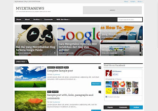 MyExtraNews Responsive Blogger Template download theme