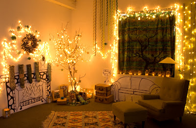 Whole+Room+Glowing - Easy DIY Holiday Decor