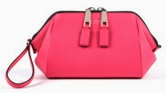 Incognito Pink Leather Wristlet