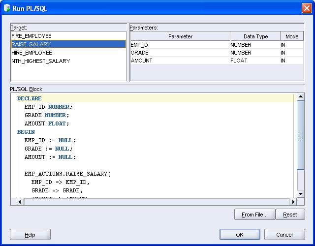 PLSQL Oracle SQL Developer