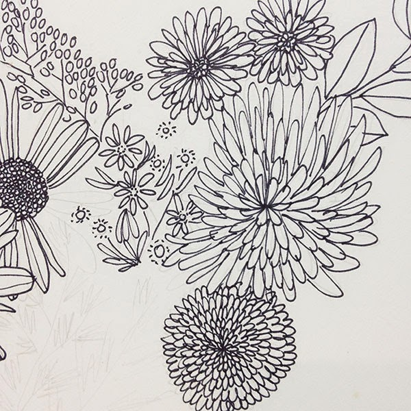Little Flowers Drawing Framing This Little Guy