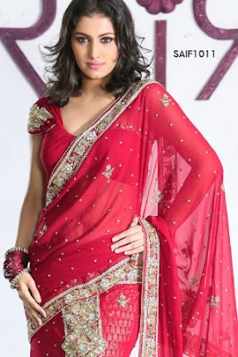 Red-Indian-Wedding-Saree-