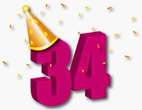 Поздравление на день рождения 34 года