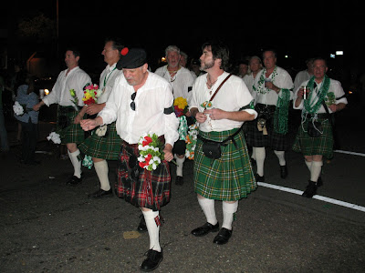 Men in kilts:  Downtown Irish Club Parade, St Patrick's Day 2012, NOLA