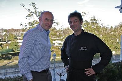 Esteban Capdevila y el chef Jesús del Cerro. Blog Esteban Capdevila