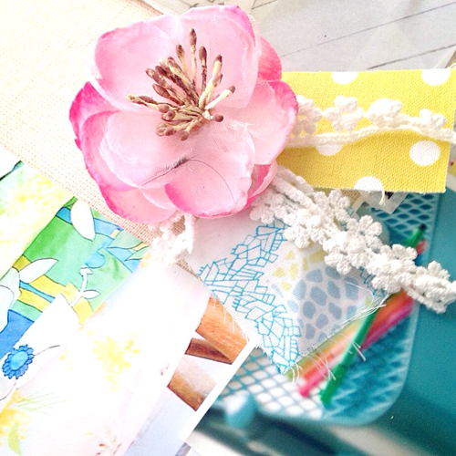 Prima+Flower+Liberty+Fabric+Moodboard+CLose+Up My Crafting Updates Decoupage Craft Room Moodboard