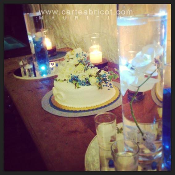 Carte abricot wedding planner l 39 ile maurice janvier 2014 for Decoration gateau m m s