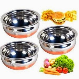 Shopclues: Buy iDeals Copper Bottom Handi Set of 3 Pc + Rs.3 Cashback Rs.178