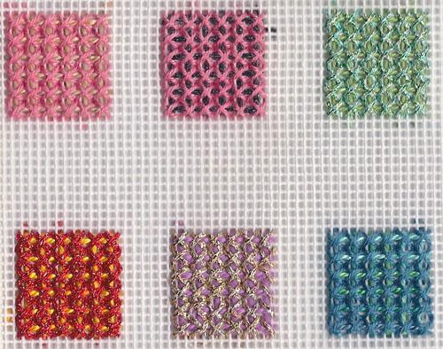 Rittenhouse needlepoint stitch of the week trellis couching