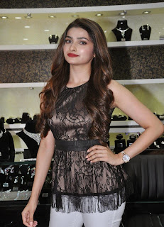 Prachi Desai in lovely dark Brown Top and Denim at 10 jewel Diamnond Launch Mumbai