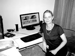 Tara Douglas at work on the animation film in Nagaland
