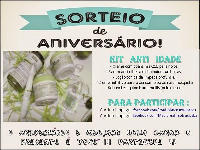 SORTEIO NO FACE (até 20/02)