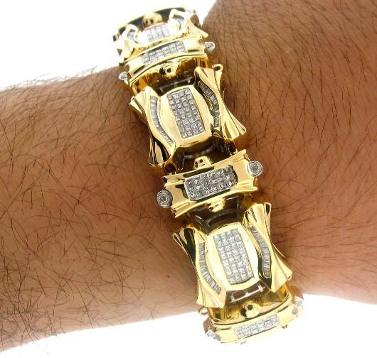 Thick Gold Bracelets