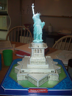 3D Puzzle of the Statue of Liberty