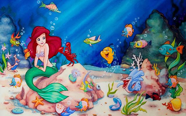 Putri duyung Ariel dan teman-temannya