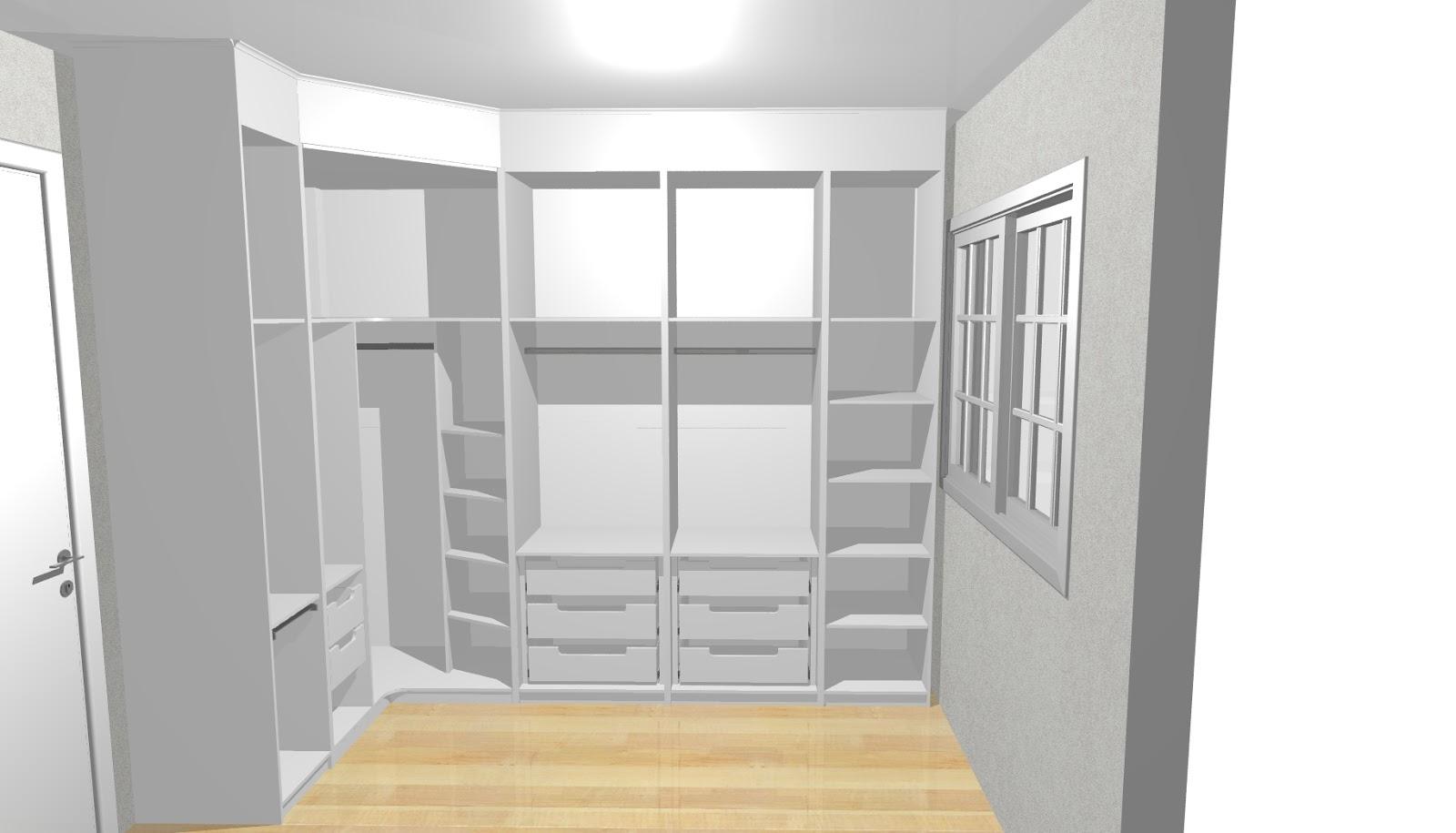 Guarda roupa que atende todas as necessidades do casal projeto  #947337 1600x915 Banheiro Acoplado Closet